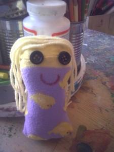 Dolly sock friend